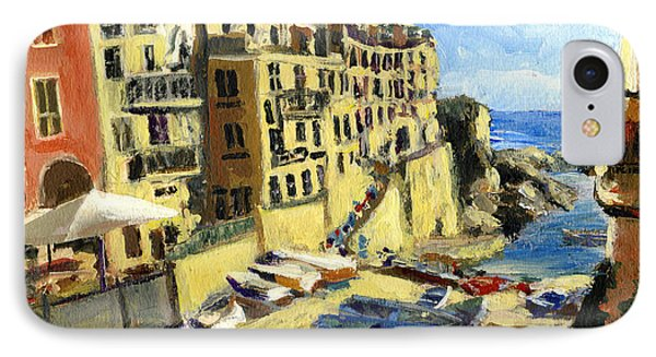 Riomaggiore Italy Late Afternoon IPhone Case by Randy Sprout