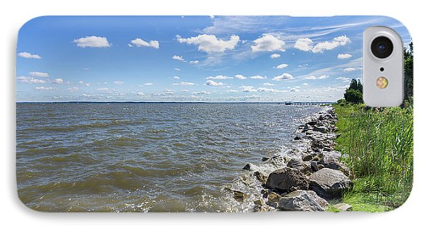 IPhone Case featuring the photograph Rip-rap On The Chester River by Charles Kraus