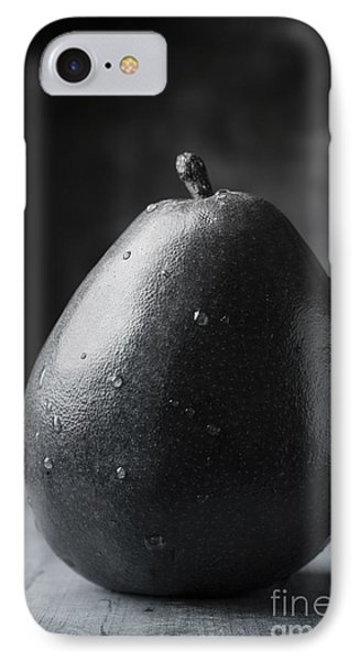 Ripe Pear Black And White IPhone Case by Edward Fielding