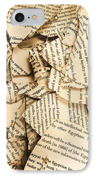 Ripped Up Pages IPhone Case by Jorgo Photography - Wall Art Gallery