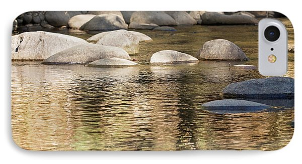 IPhone 7 Case featuring the photograph Ripples And Rocks by Linda Lees
