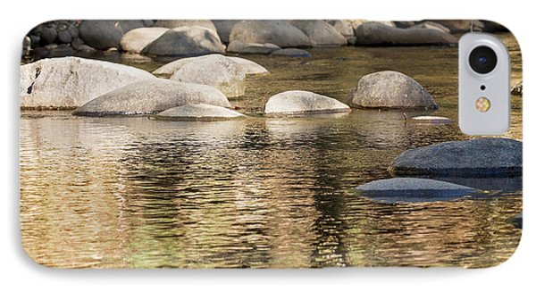 IPhone Case featuring the photograph Ripples And Rocks by Linda Lees