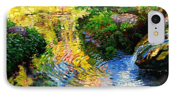Ripples On A Quiet Pond Phone Case by John Lautermilch