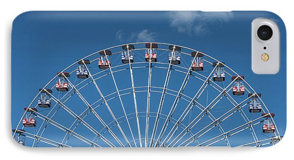 Rise Up Ferris Wheel In The Clouds Seaside Nj IPhone Case by Terry DeLuco