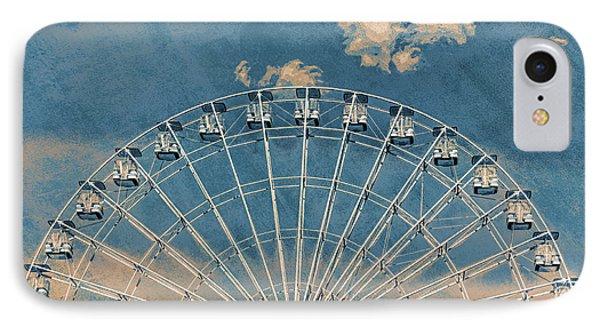 Rise Up Ferris Wheel In The Clouds IPhone Case by Terry DeLuco