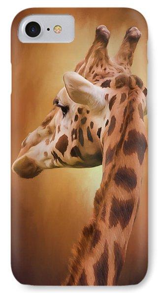 Rising Above - Giraffe Art IPhone Case by Jordan Blackstone