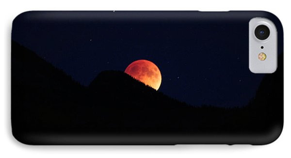 Blood Moon Rising IPhone Case by Cathie Douglas