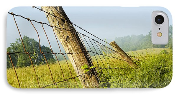Rising Mist With Falling Fence Phone Case by Thomas R Fletcher