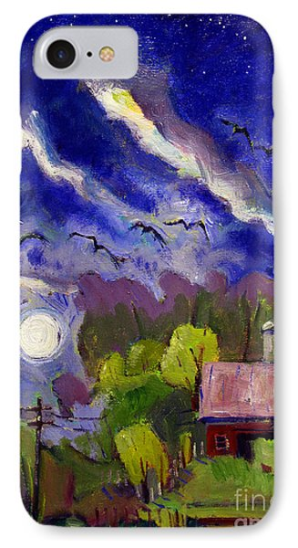 Rising Moon On Walnut Ridge IPhone Case by Charlie Spear