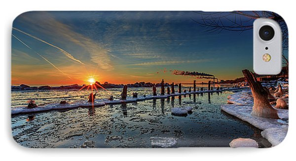 Rising On The Icy Blue IPhone Case by Andrew Slater