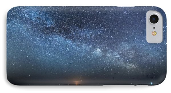 Rising Tide Rising Moon Rising Milky Way IPhone Case by Patrick Fennell