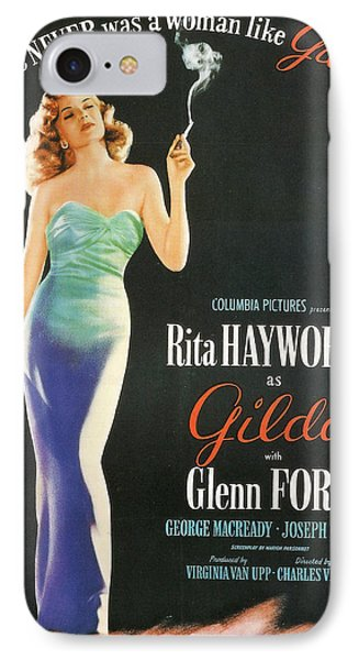 Rita Hayworth As Gilda Phone Case by Georgia Fowler