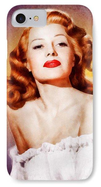 Rita Hayworth By John Springfield IPhone Case