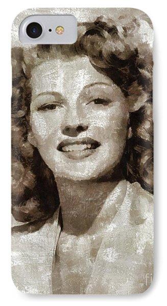 Rita Hayworth By Mary Bassett IPhone Case
