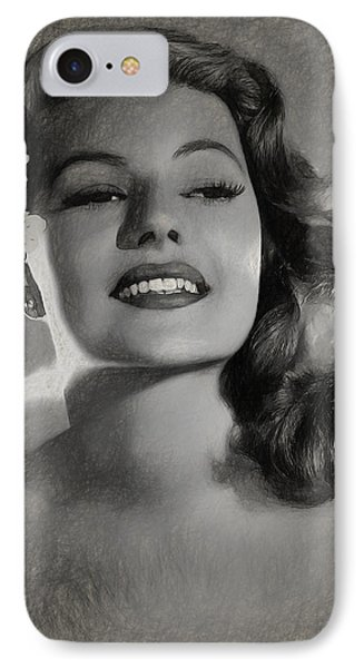 Rita Hayworth IPhone Case by Quim Abella