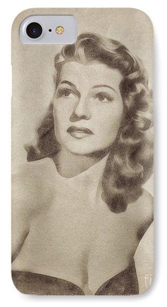Rita Hayworth, Vintage Actress By John Springfield IPhone Case