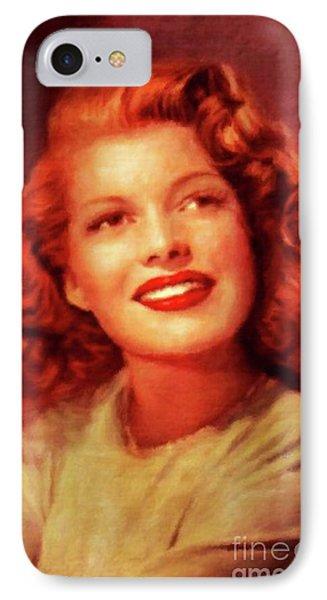 Rita Hayworth, Vintage Actress By Mary Bassett IPhone Case