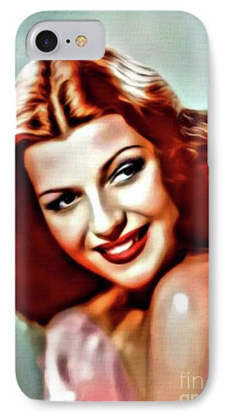 Rita Hayworth, Vintage Actress. Digital Art By Mary Bassett IPhone Case
