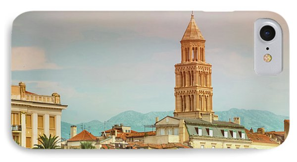 Riva Waterfront, Houses And Cathedral Of Saint Domnius, Dujam, D IPhone Case by Elenarts - Elena Duvernay photo