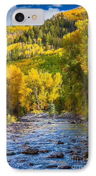 River And Aspens Phone Case by Inge Johnsson