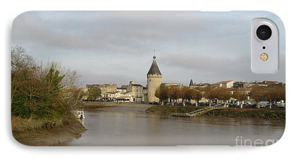 River Arrival To Libourne IPhone Case