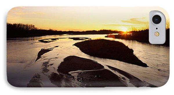 River At Sunset, Platte River IPhone Case