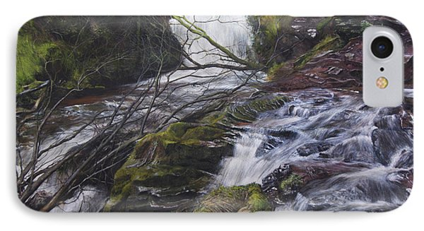 River At Talybont On Usk In The Brecon Beacons Phone Case by Harry Robertson