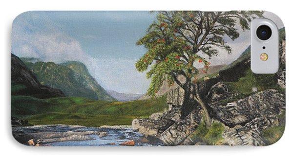River Coe Scotland Oil On Canvas IPhone Case