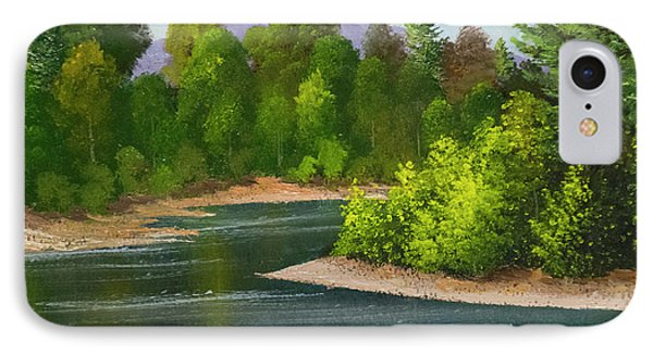IPhone Case featuring the painting River Confluence by Frank Wilson