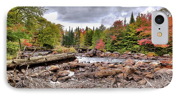 IPhone 7 Case featuring the photograph River Debris At Indian Rapids by David Patterson