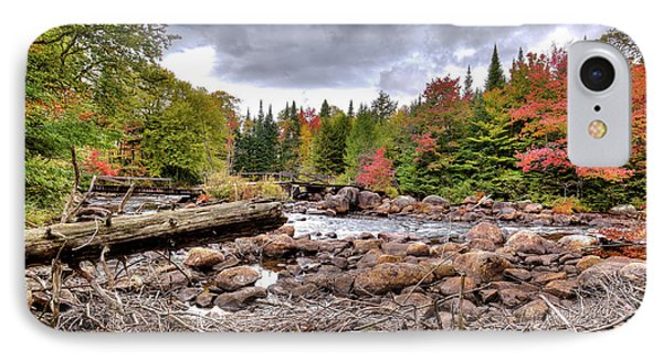 IPhone Case featuring the photograph River Debris At Indian Rapids by David Patterson