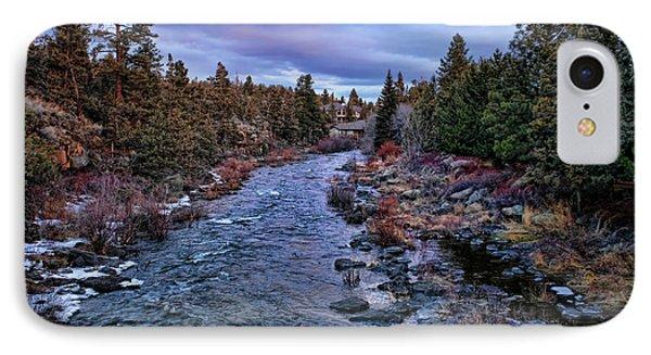 River Deschutes Flows  IPhone Case by Chuck Kuhn