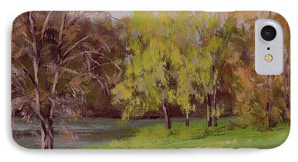 River Forks Spring 2 IPhone Case by Karen Ilari