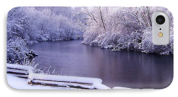 River In Winter IPhone Case by Phil Perkins