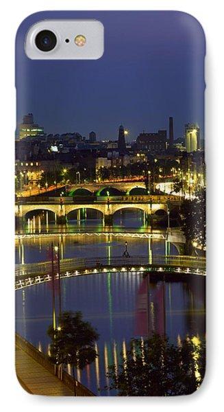 River Liffey Bridges Dublin Ireland Photograph By The