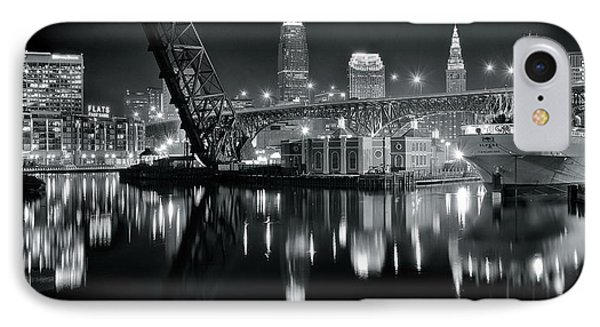 River Lights In Black And White IPhone Case