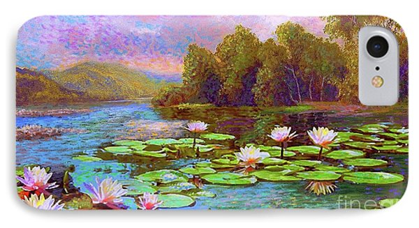 The Wonder Of Water Lilies IPhone Case by Jane Small