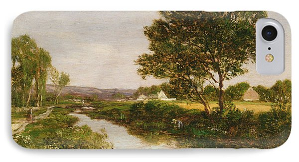 River On The Outskirts Of Quimper IPhone Case
