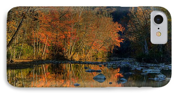 IPhone Case featuring the photograph River Reflection Buffalo National River At Ponca by Michael Dougherty