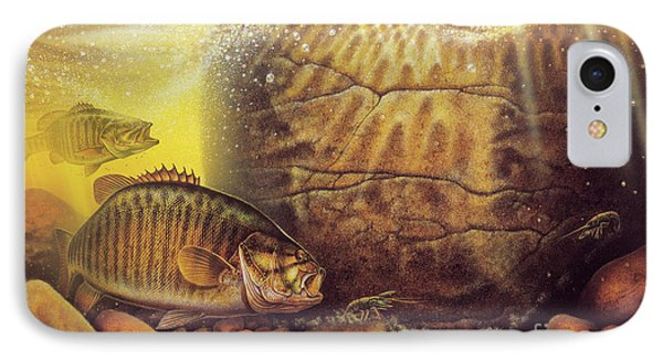 River Smallmouth IPhone Case by Jon Wright