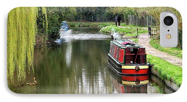 IPhone Case featuring the photograph River Stort In April by Gill Billington