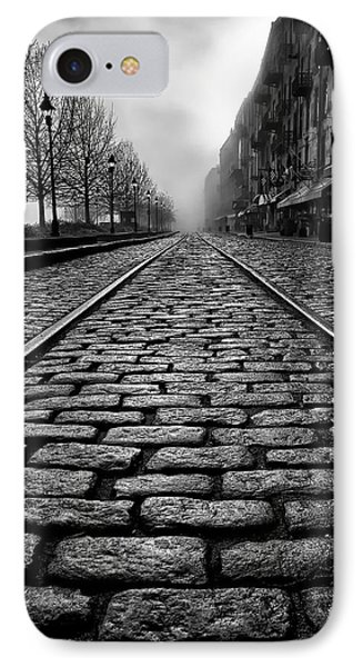 River Street Railway - Black And White IPhone Case