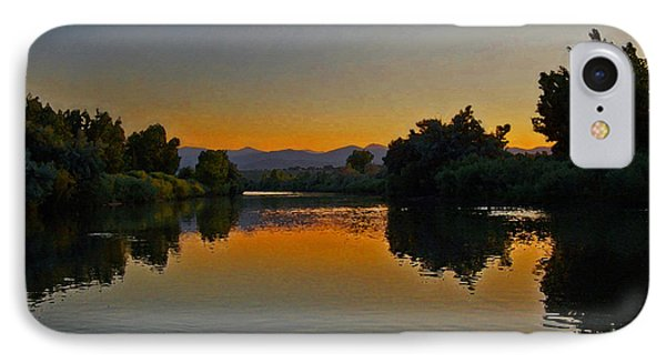 River Sunset IPhone Case by Ernie Echols