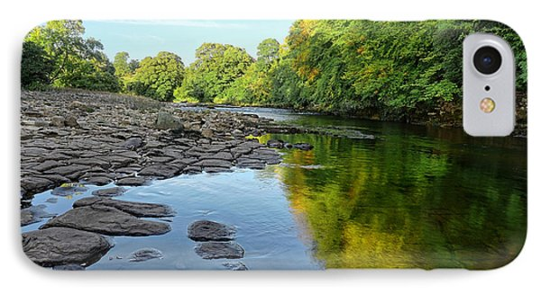River Swale, Easby IPhone Case by Nichola Denny