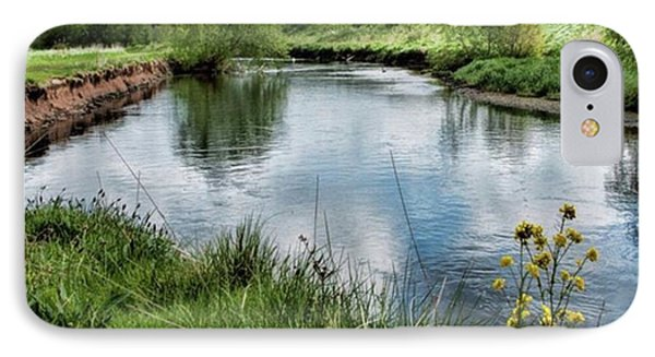 River Tame, Rspb Middleton, North IPhone Case by John Edwards