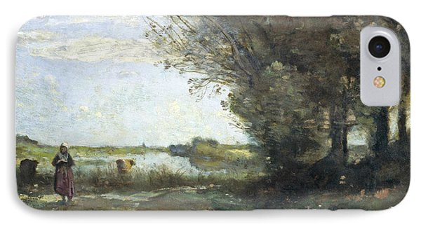 River View IPhone Case by Jean-Baptiste-Camille Corot