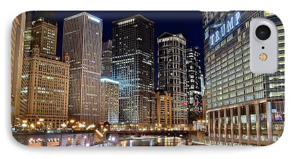 Wrigley Field iPhone 7 Case - River View Of The Windy City by Frozen in Time Fine Art Photography