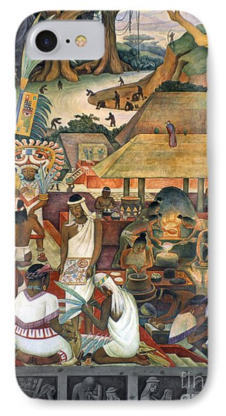 Rivera: Pre-columbian Life IPhone Case by Granger