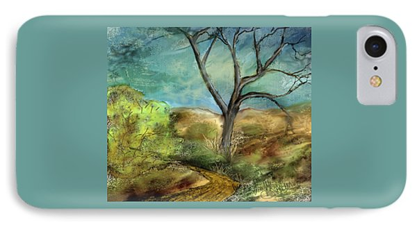 IPhone Case featuring the painting Riverbed  by Annette Berglund