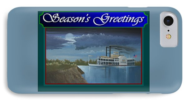 Riverboat Season's Greetings IPhone Case by Stuart Swartz